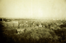 Panoramic view of the University of Tokyo Hospital circa 1930